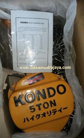 chain block kondo 5 ton bersertifikat