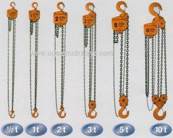 Chain Block 1 Ton, 2 Ton, 5 Ton, 10 Ton Berbagai Merk Harga Murah