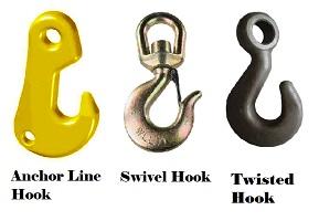 Anchor Line Hook, swivel hook, twisted hook