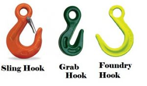 sling hook, grab hook, foundry hook